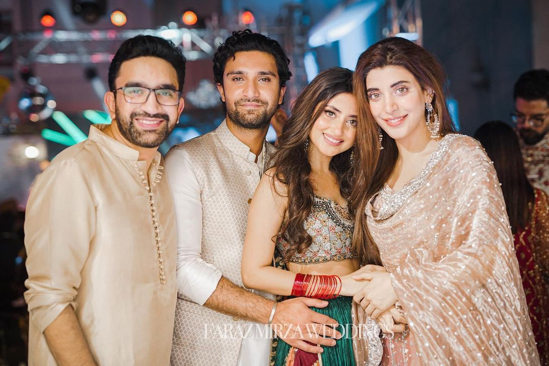 Beautiful Pictures of Celebrities from Mehndi Event of Umair Qazi
