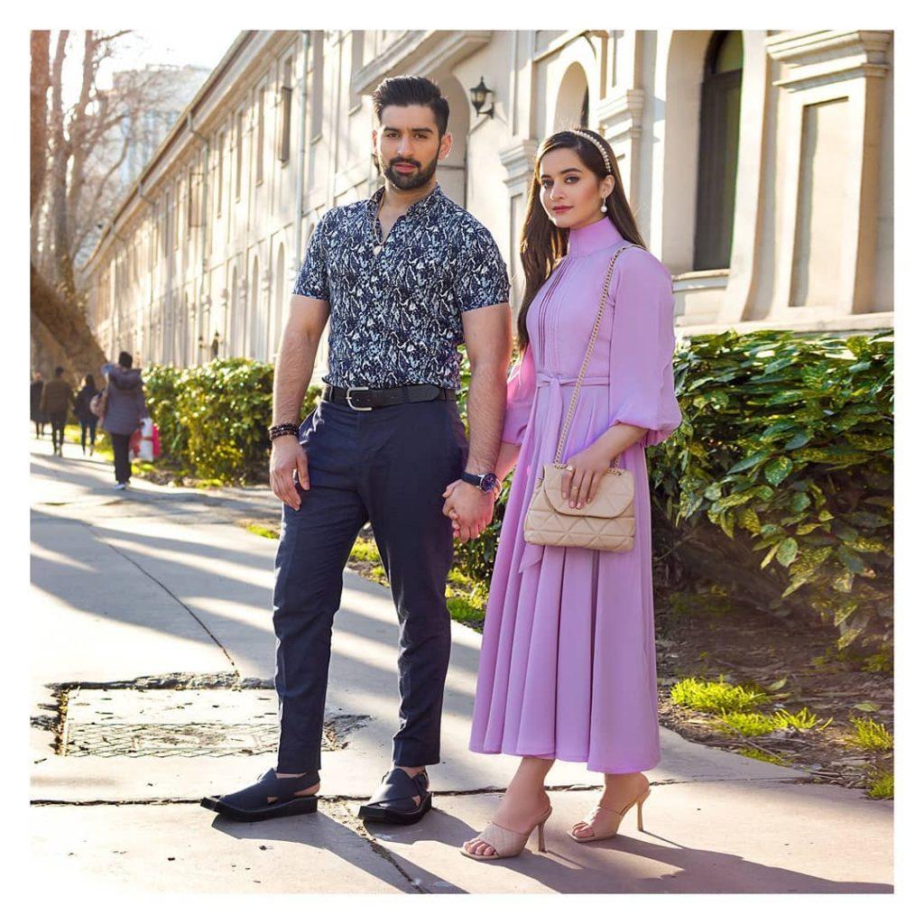 Borjan Shoes Ad Ft. Aiman Khan And Muneeb Butt