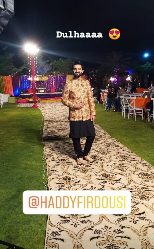 Aiman And Muneeb Spotted At Haddy Firdousi's Mehndi