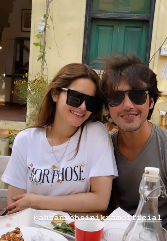 Ahsan Mohsin Shares Underwater Video With Minal On One Year Together