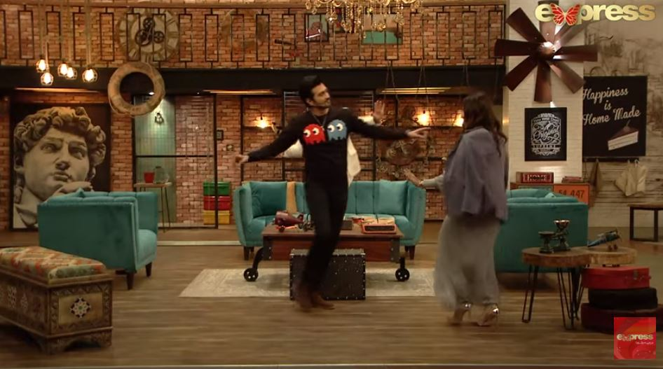 Shahzad Sheikh And Momal Sheikh Gives A Dance Performance In Time Out With Ahsan Khan Show