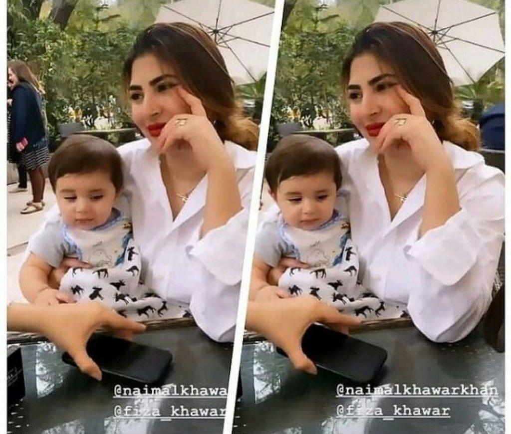 Hamza And Naimal Son Mustafa Abbasi Pictures
