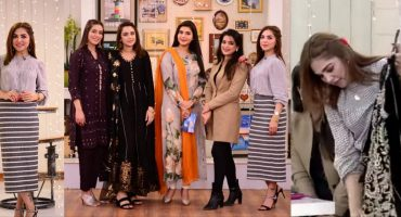 Natasha Ali Shows Her Wedding Wardrobe In Good Morning Pakistan