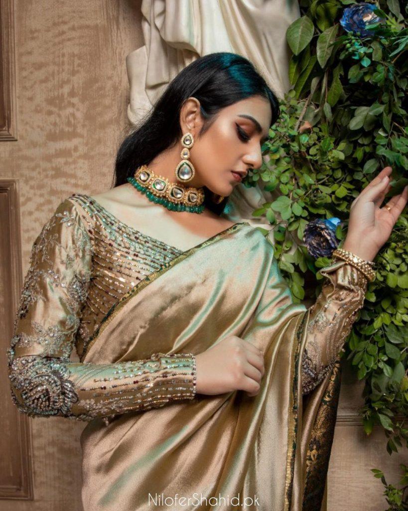 Sarah Khan In Ensembles By Nilofer Shahid