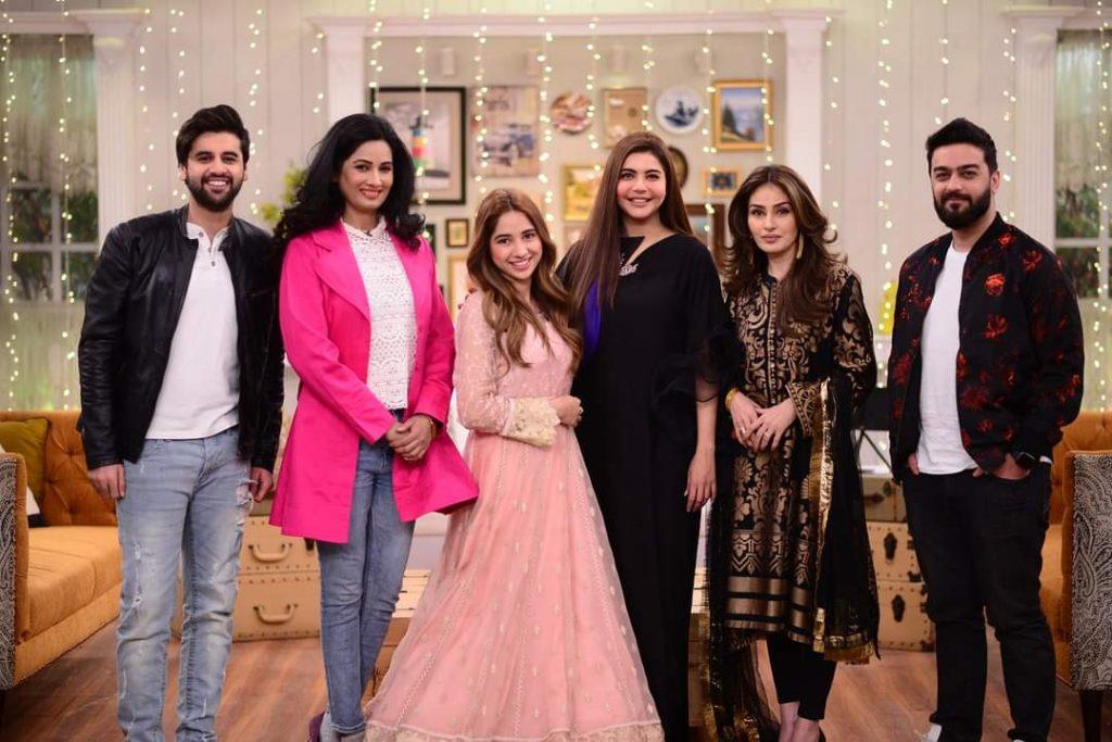 Sabeena Farooq and Raza Talish Pictures Together