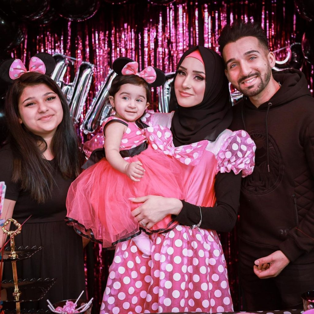 Sham Idrees Celebrating First Birthday Of Daughter Sierra Idrees