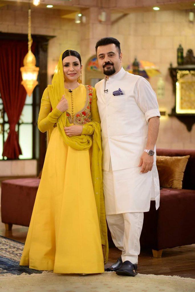 Ahmad Ali Butt & Fatima , Sunita Marshall & Hassan Ahmad Pictures From GMP Shaan-e-Suhoor