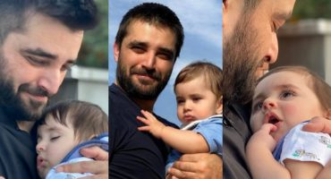 Hamza Ali Abbasi Adorable Pictures With Son