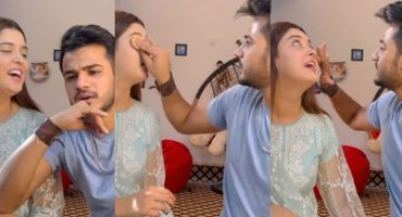 Zulqarnain Chaudhry Doing Wife Kanwal Aftab's Make Up