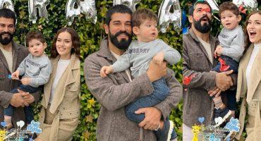 Burak Özçivit And Fahriye Evcan Celebrated Son's Second Birthday