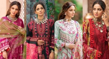 Maryam Hussain's Latest Luxury Lawn Collection Featuring Saba Qamar