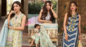 Crimson Luxury Lawn by Saira Shakira Featuring Sonya Hussyn