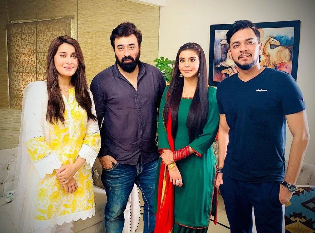 Nida Yasir and Shaista Lodhi Eid Play BTS Pictures