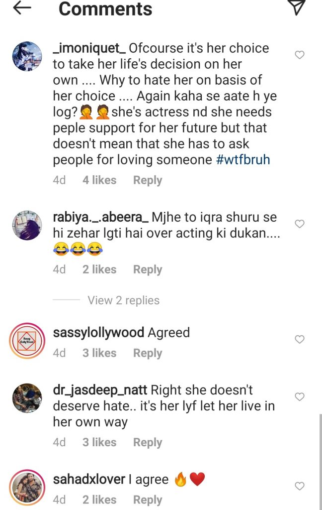 Fans Think That Iqra Aziz Faces Unnecessary Backlash Because of Husband Yasir