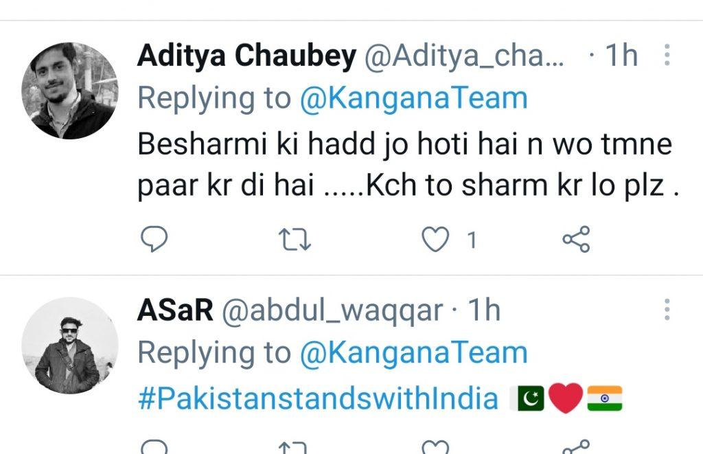 India And Pakistan Thrashed Kangna Ranaut On Her Recent Statement