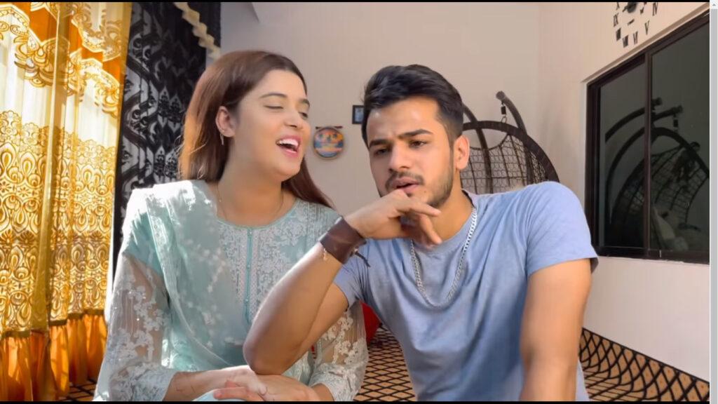 Zulqarnain Chaudhry Doing Wife Kanwal Aftab's Make Up