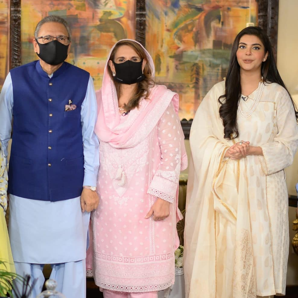 President Arif Alvi With Wife Samina Alvi At Shan-e-Sahoor