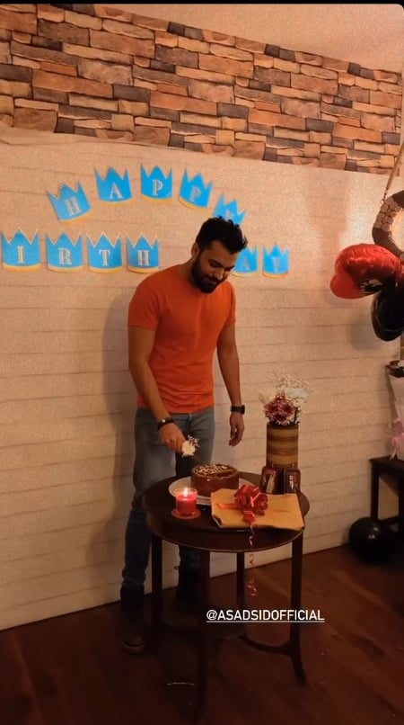 Asad Siddiqui Celebrated Birthday With Wife Zara Noor Abbas