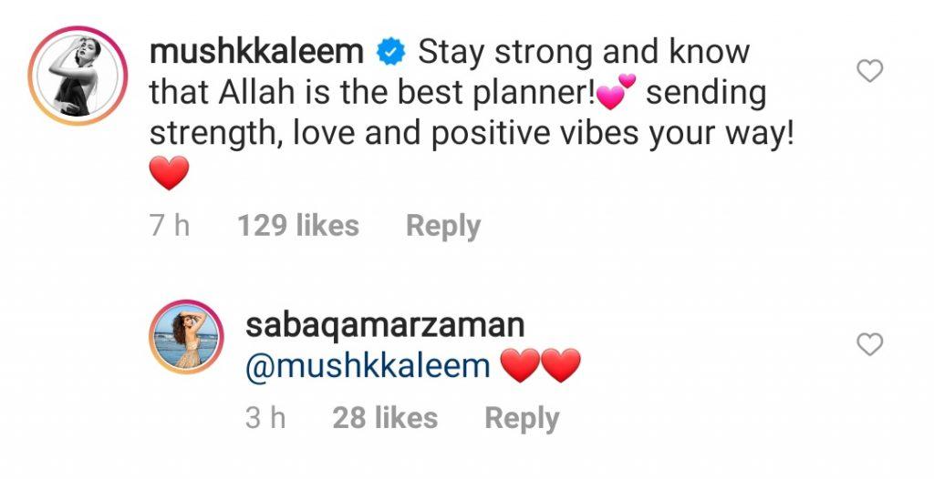 Celebrities Reacted To Saba Qamar's Break Up News