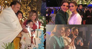 Resham And Hira Mani Spotted At Fawad Chaudhry's Birthday Bash