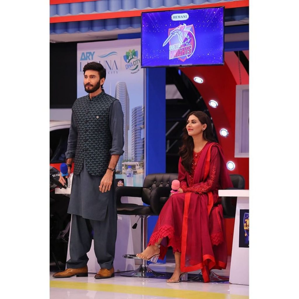 Beautiful Pictures Of Hasan Ahmed And Sunita Marshall From The Set Of JPL