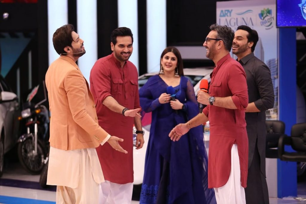 Celebrities' Pictures From The Set Of Jeeto Pakistan