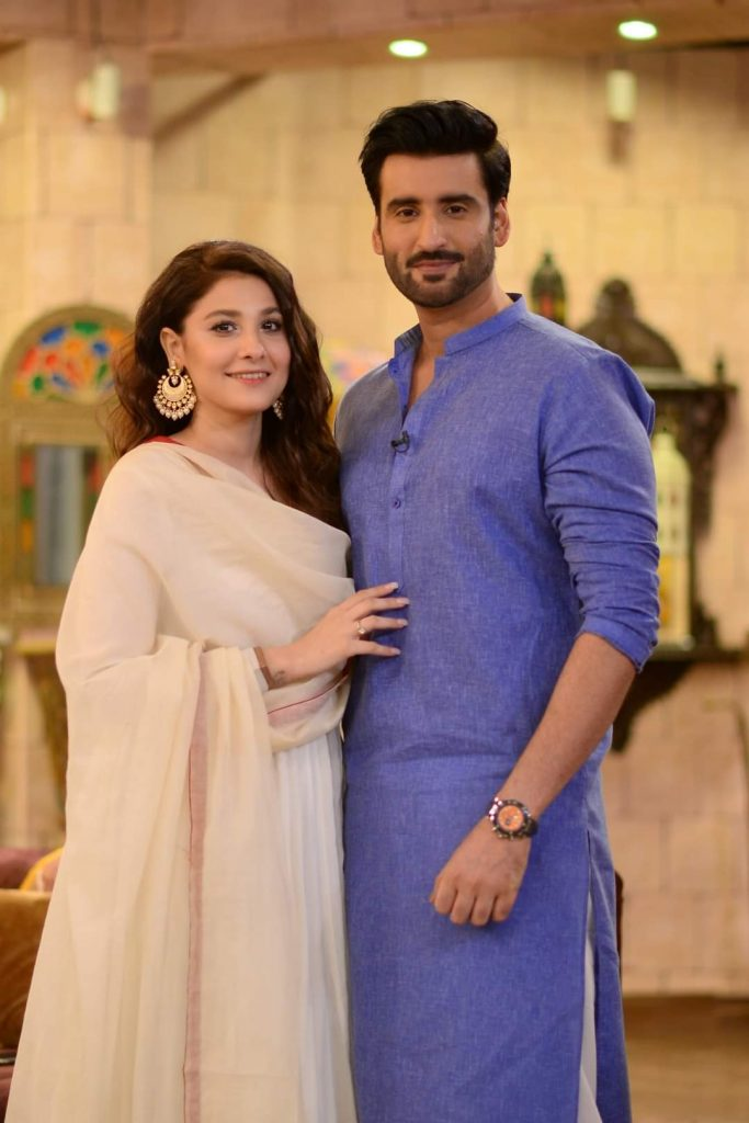 Hina Altaf and Agha Ali Beautiful Pictures From GMP Shan-e-Suhoor