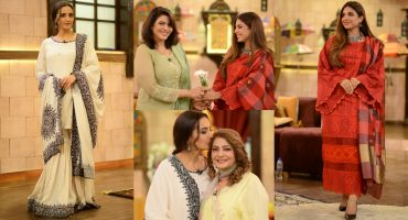 Momal Sheikh And Sonya Hussyn With Their Mothers At GMP Shan-e-Suhoor