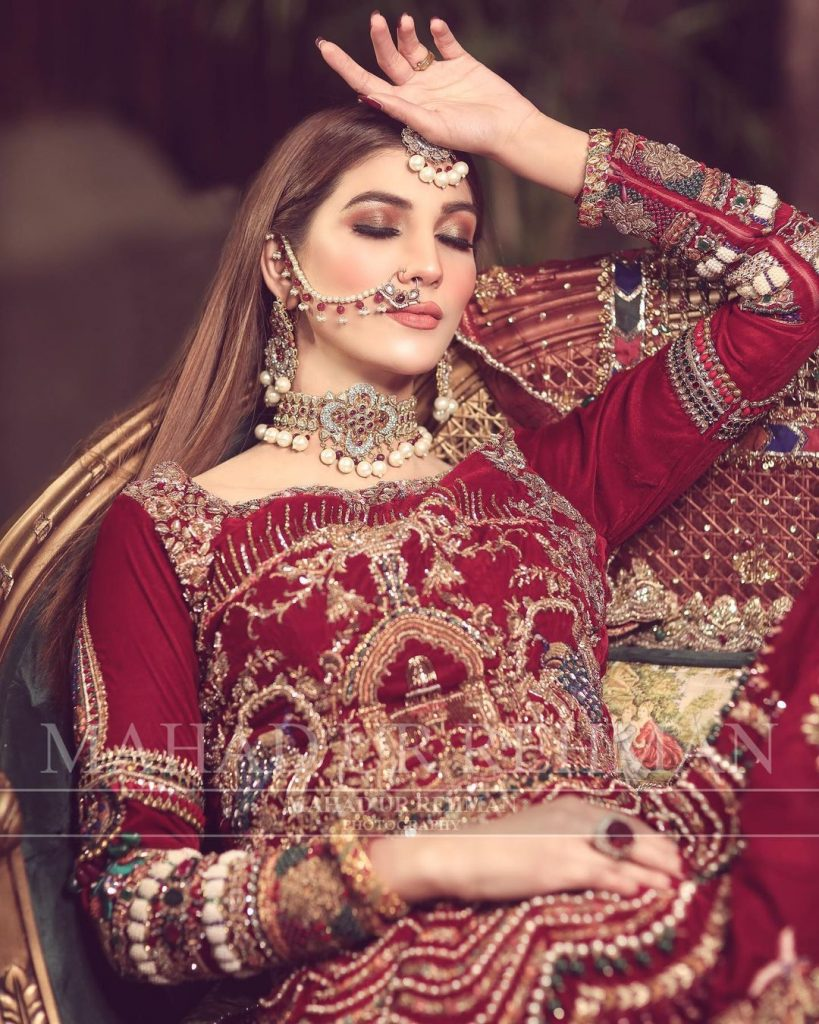 Nazish Jahangir Stuns As A Traditional Bride In Her Latest Shoot