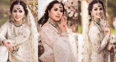 Nimra Khan Looks Undeniably Gorgeous In Ivory Bridal Ensemble