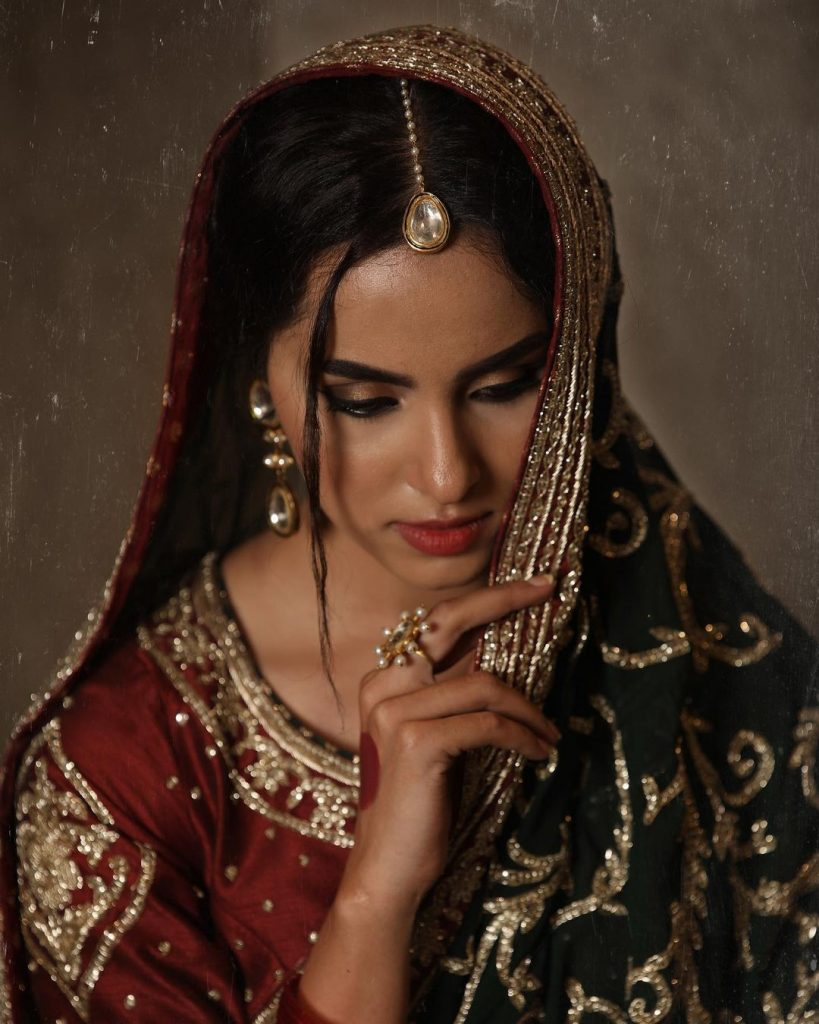 Nimra Khan Dolls Up As A Traditional Bride In Her Latest Shoot