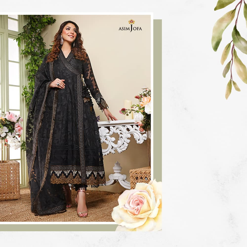 Asim Jofa's Latest Pret Collection 2021 Featuring Ramsha Khan