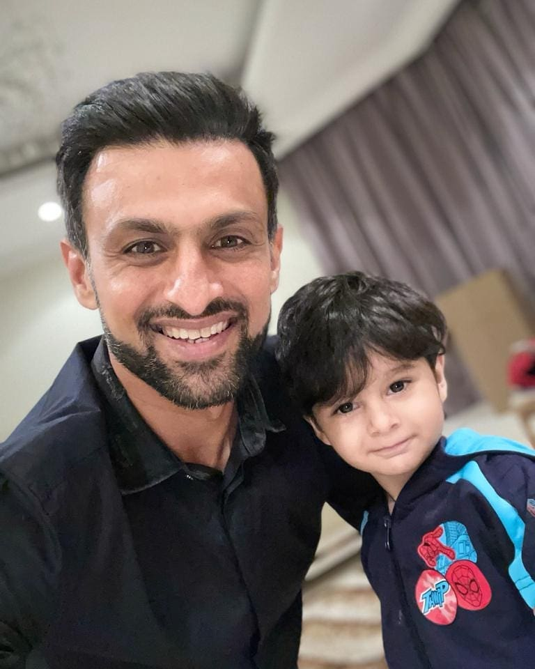 Shoaib Malik Talks About Spending Time With Son Izhan Mirza Malik