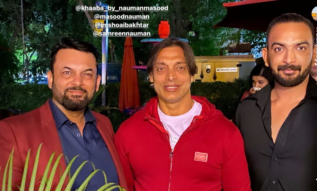 Shoaib Akhtar And Eshal Fayyaz Spotted With Nauman Masood Family