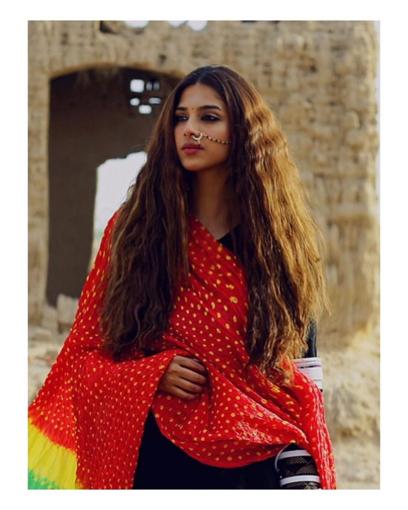 Sonya Hussyn Shared Her First Look From Drama Serial Mor Moharaan