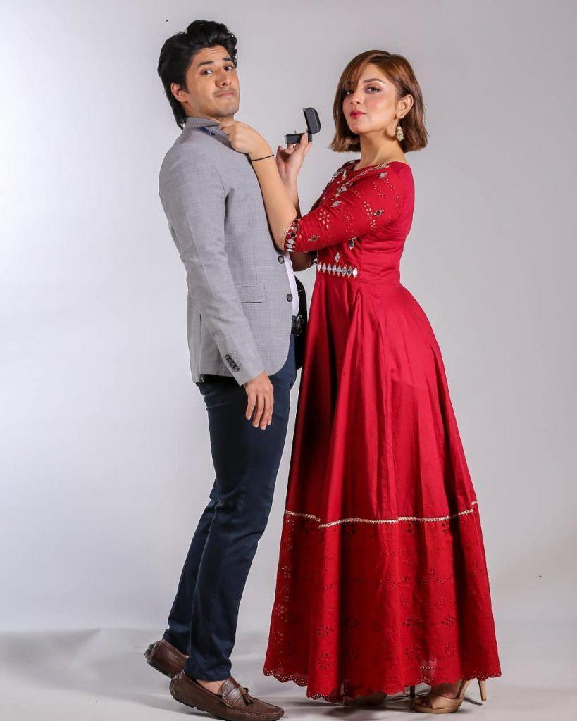 Alizeh Shah And Danyal Zafar's Promo Shoot For Tanaa Banaa