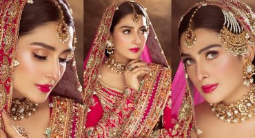 Ayeza Khan Looks Glorious In Bridal Shoot For Shoaib Khan