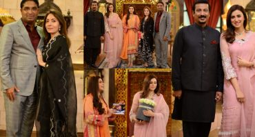Sharmila Farooqi & Husband , Madiha Naqvi & Faisal Sabzwari Pictures from GMP Shan-e-Suhoor