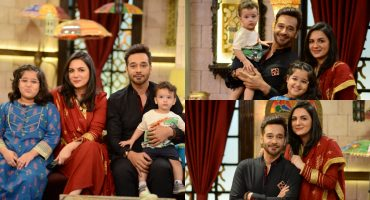 Faysal Quraishi With His Wife Sana And Kids At Shan-e-Sahoor