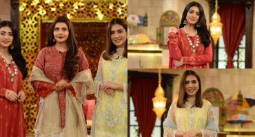 Beautiful Pictures Of Sarah Khan And Mansha Pasha From The Set Of Shan-e-Suhoor