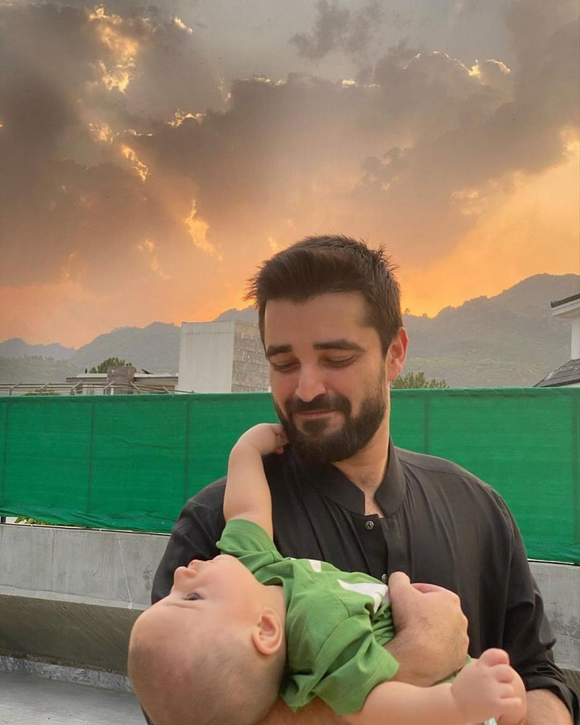 Hamza Ali Abbasi Is Cheerfully Playing with Son - Recent Pictures
