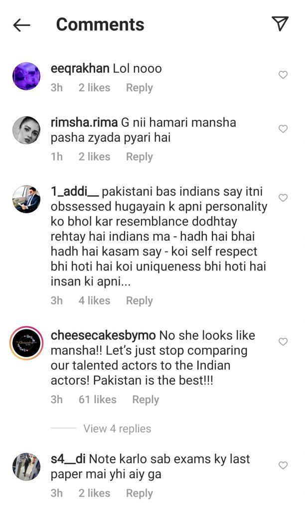 Does Mansha Pasha Look Like Sara Ali Khan