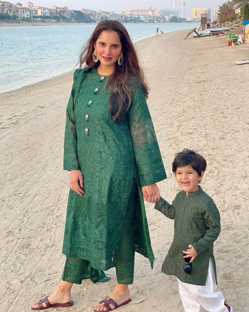 Shoaib Malik Celebrated Eid-ul-Fitar With Wife Sania Mirza In Dubai