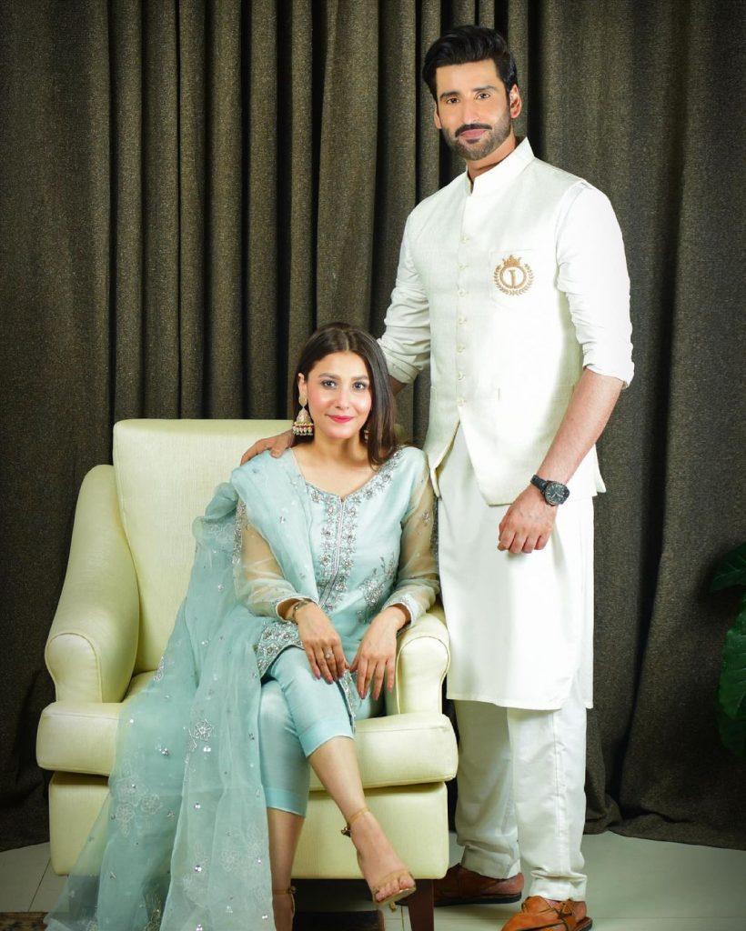 Hina Altaf And Agha Ali Looking Adorable As Always On Eid-ul-Fitar 2021