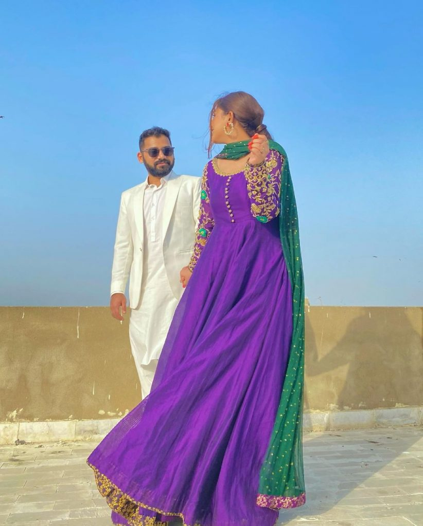 Anumta Qureshi Looks Adorable In Eid Pictures With Her Husband
