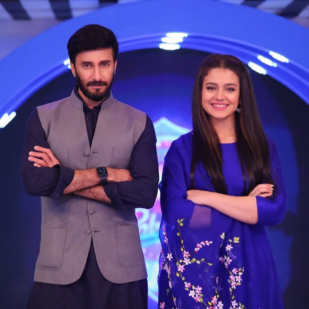 The Adorable Duo Asad Siddiqui And Zara Noor Abbas At The Set Of JPL