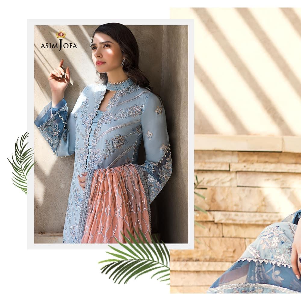 Asim Jofa's Latest Chiffon Collection Featuring Sonya Hussyn And Dur-e-Fishan