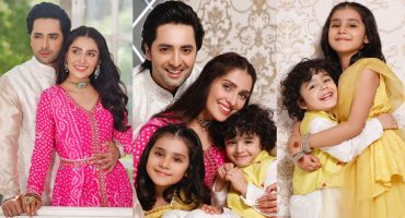 Ayeza Khan And Danish Taimoor With Kids- Aborable Eid Pictures