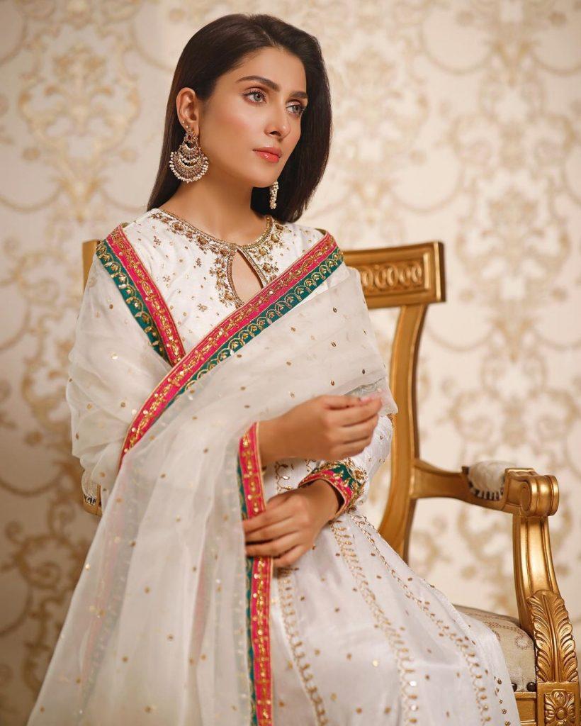 Stunning Pictures Of Ayeza Khan Celebrating Eid-ul-Fitr Day 2