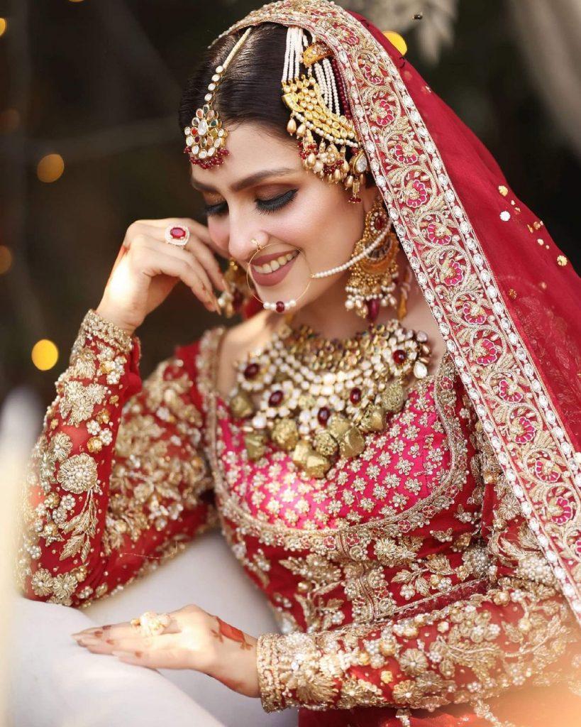 Ayeza Khan Flaunts Elegance In Her Latest Bridal Shoot